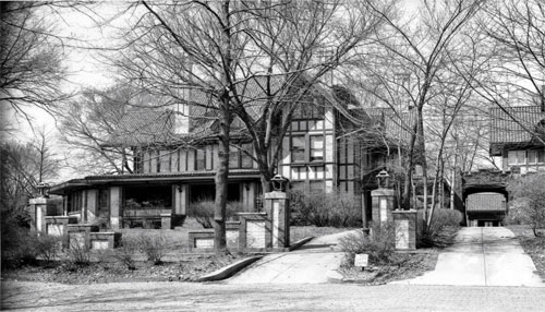 Staley purchased the family home on North College St in 1912.  It was the home of his dreams and a message to the citizens of Decatur that he was here to stay. Photo courtesy of the Decatur Public Library