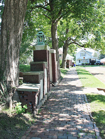 Brick Side Walks near Staley Museum