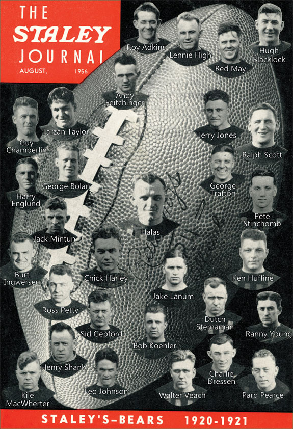 Staley's Bears Football Team 1920-1921
